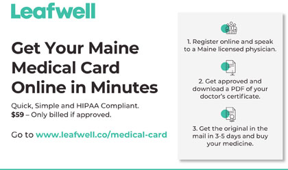 Maine Medical Marijuana Card Certification and renewal